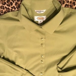 Talbots wrinkle resistant stretchy green size P12